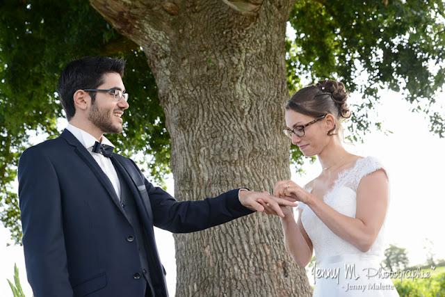 photo échange des alliances mariage