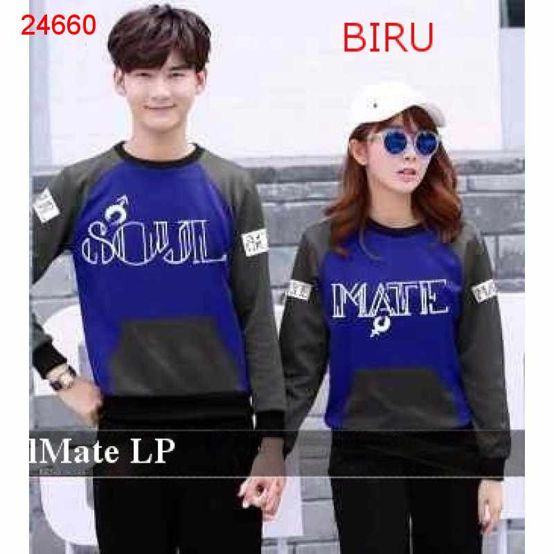 Jual Sweater Couple Sweater Soulmate - 24660