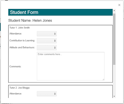 Picture of the Student Feedback Form