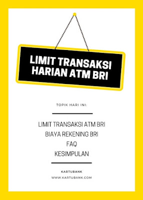 Gambar Daftar Isi Limit Transaksi atm BRI