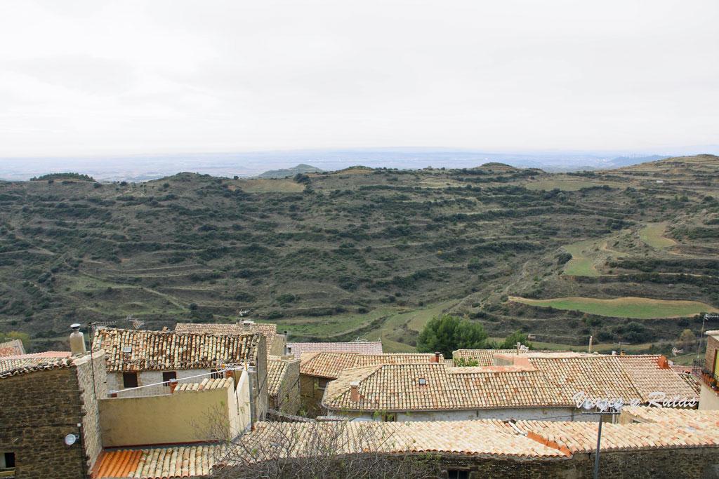 Vistas desde el Mirador de la Iglesia de Santa María de Ujué