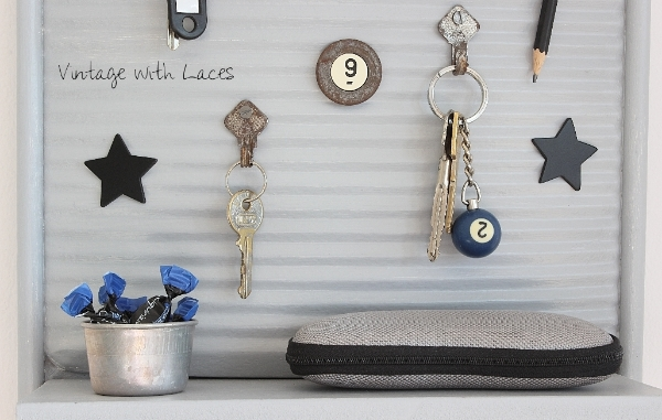 Vintage Washboard Upcycled into Key Holder