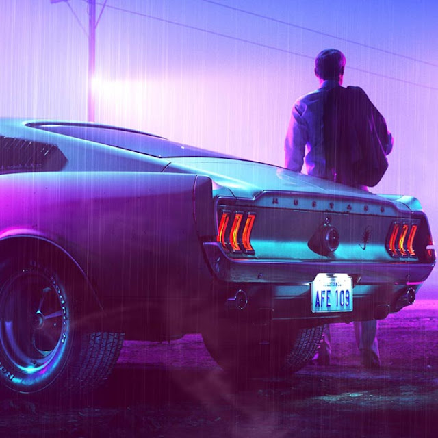 Vaporwave Mustang Wallpaper Engine