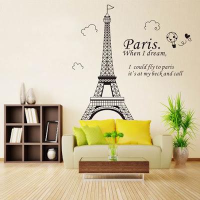 Paris Eiffel Tower Wall Stickers