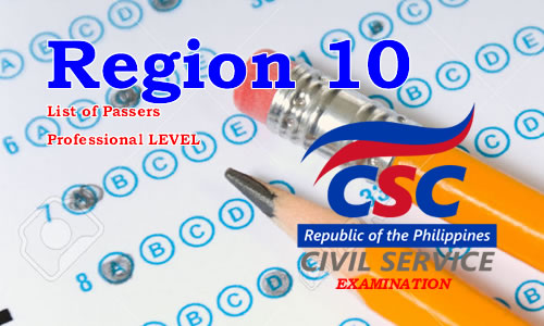 List of Passers Region 10 August 2017 CSE-PPT Professional Level