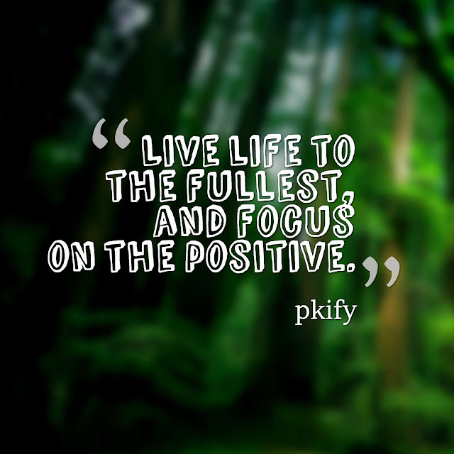Live Life to the Fullest, and Focus on the Positive Life Quotes