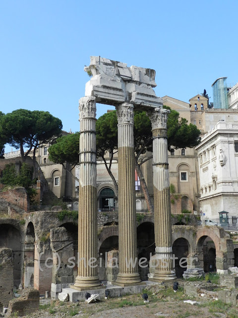 Pillars shown as part of the ruins of the Ancient City of Rome