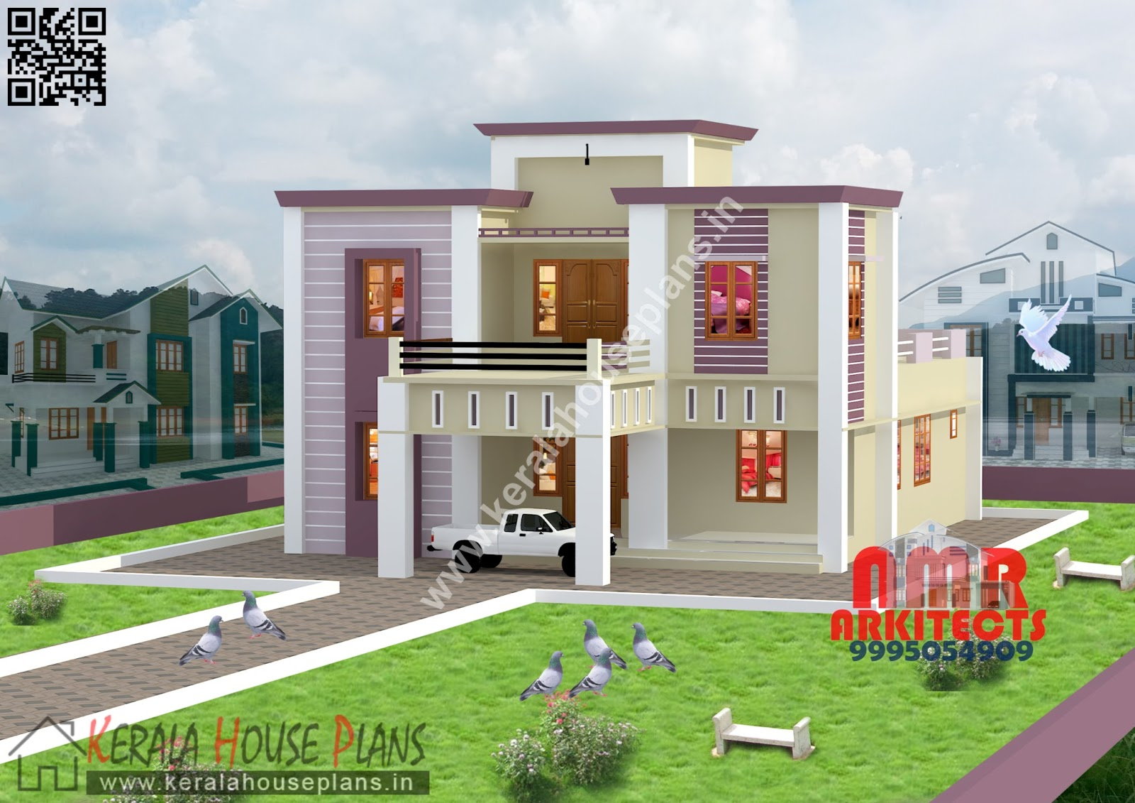 Kerala home designs and elevation for Elevation of kerala homes