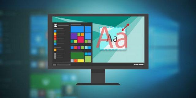 كيفية تغيير حجم النص في نظام التشغيل Windows 10