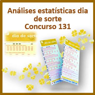 Estatísticas dia de sorte concurso 131 análises das dezenas