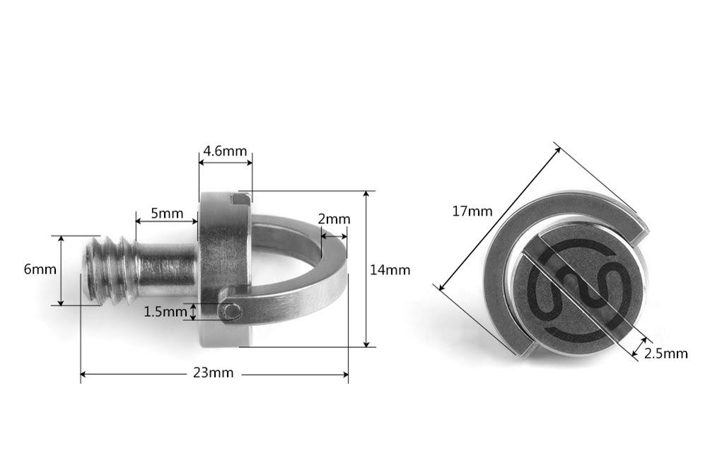 20 X Sunwayfoto Stainless Steel 1//4 for Tripod QR Screw CS-1 Hex//Flat Slot Sunway