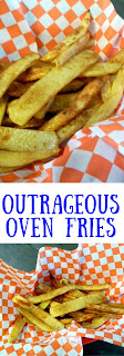 Outrageous Oven Fries will leave them begging for more!  Perfect as a side dish to any cookout!  Slice of Southern