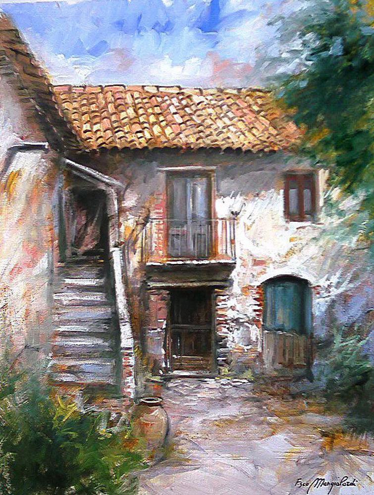 Im genes arte pinturas galer a cuadros de paisajes for Portones de madera antiguos