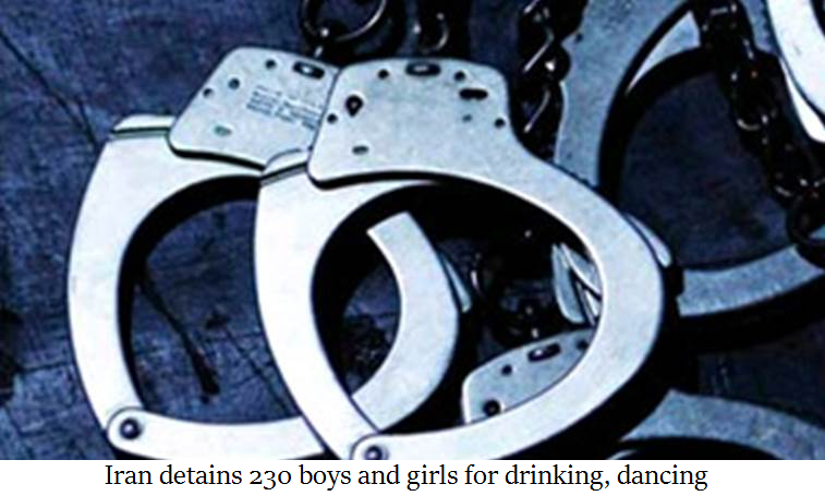 Iran detains 230 boys and girls for drinking, dancing