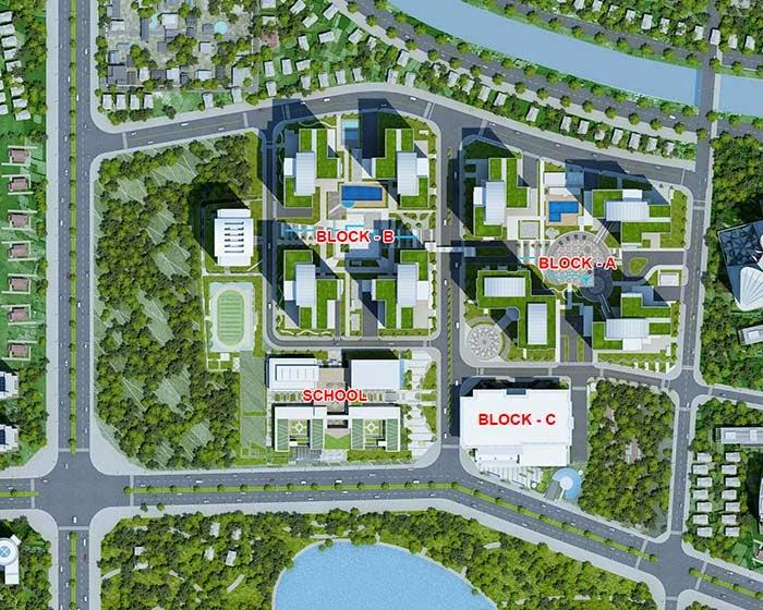 Mặt bằng dự án Goldmark City 136 Hồ Tùng Mậu