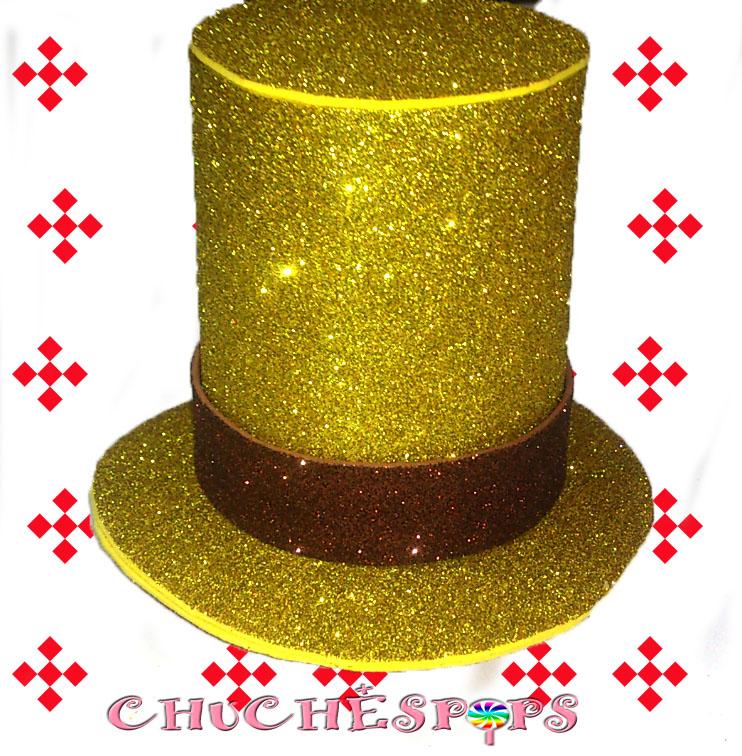 Chuchespops chistera sombrerero loco con chuches - Como hacer figuras con chuches ...