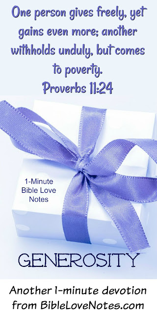 Give and Gain, Keep and Lose - Proverbs 11:24