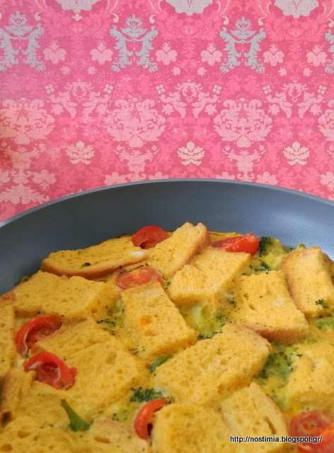 Ομελέτα φούρνου με ντοματίνια κ μπρόκολο