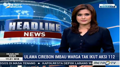 Metro tv pelintir berita buya yahya, aksi 112