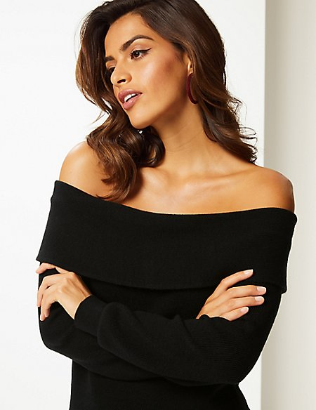 Marks and spencer bardot jumper