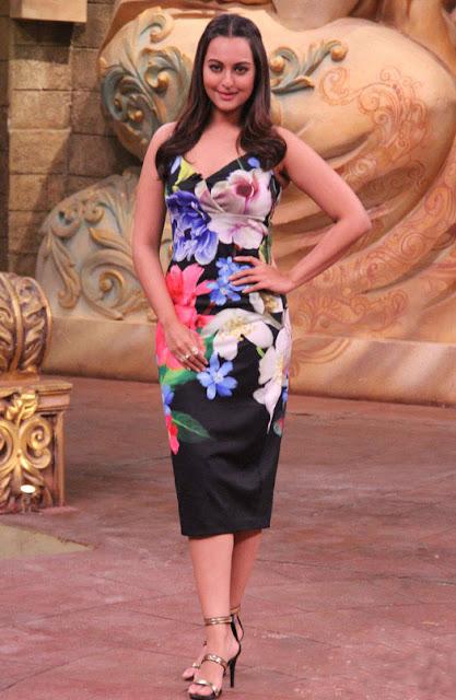 Sonakshi Sinha On Comedy Nights Bachao Sets