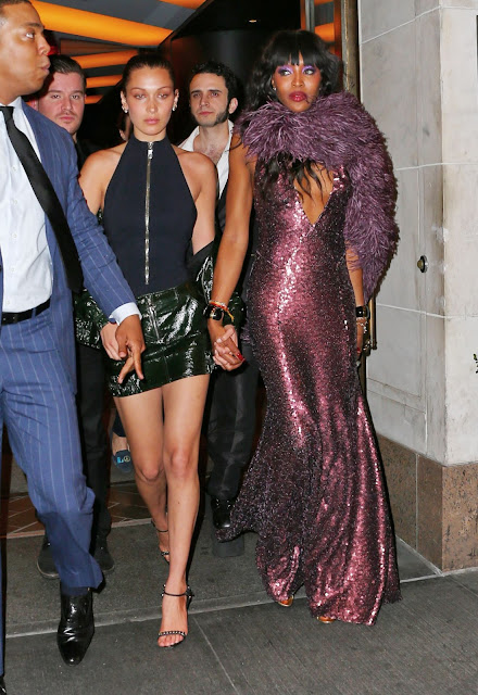 Naomi Campbell and Bella Hadid – After the Launch Party for Taschen's