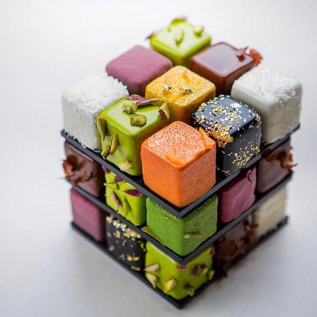 bolos feitos de cubos magicos 02 - Os cubos mágicos que você provavelmente adoraria devorar.