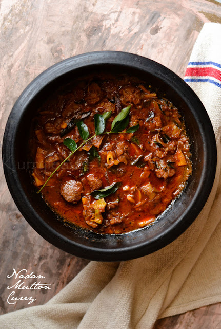 Naadan Mutton Curry (Traditional Kerala Lamb Curry)