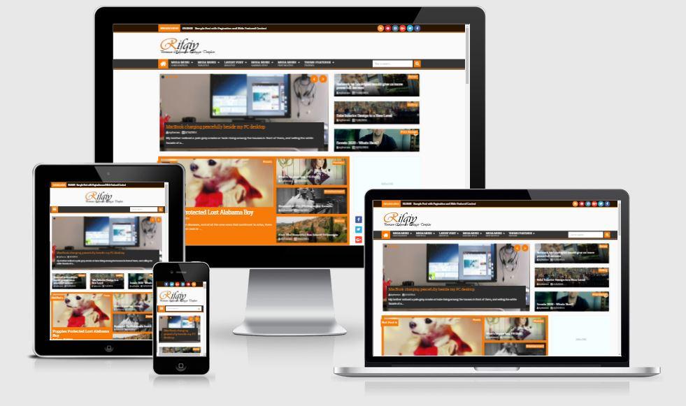 Rifqiy V1.35 Responsive Magazine News Blogger Template