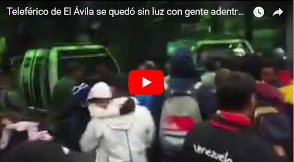Venezolanos atrapados en el teleférico del Ávila tras horas sin luz