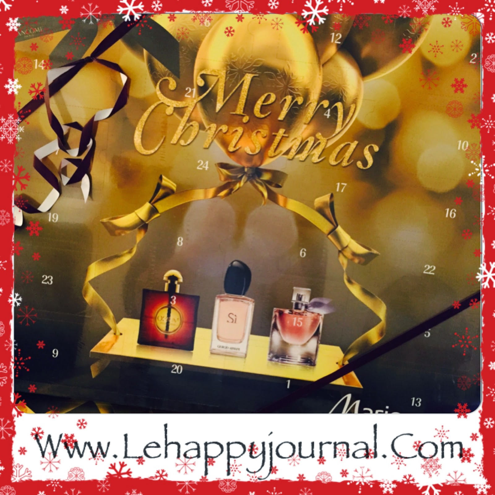 calendrier, Avent, happy journal, lancôme, yves saint laurent