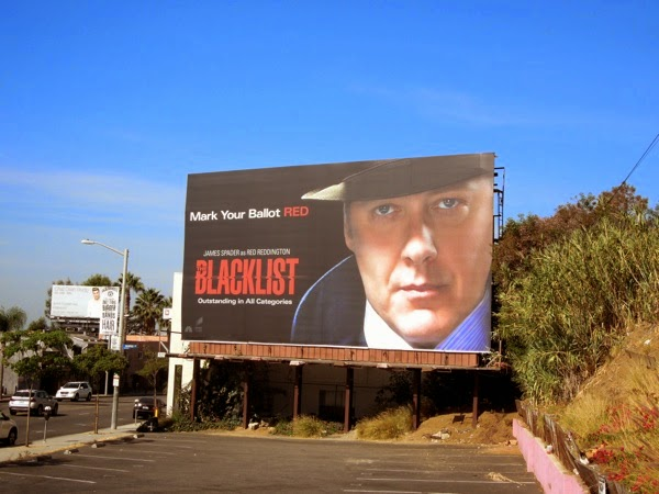 Mark your ballots Red The Blacklist Emmy Consideration billboard