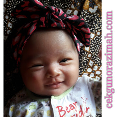 dhia zahra, headband comel, bayi comel