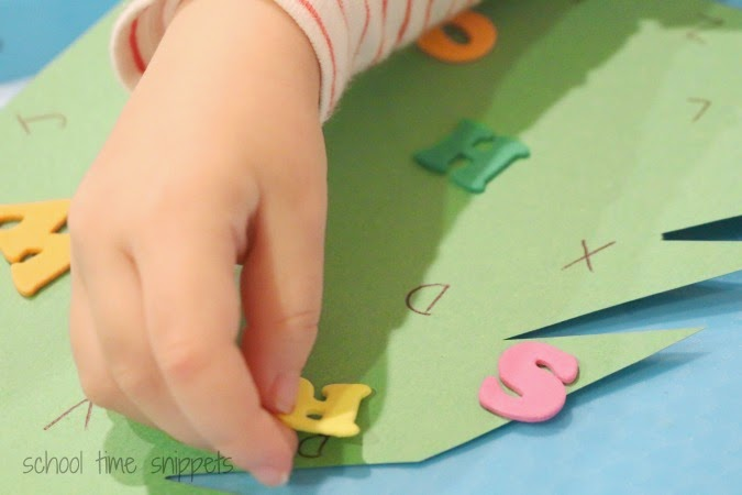 preschool christmas alphabet activity