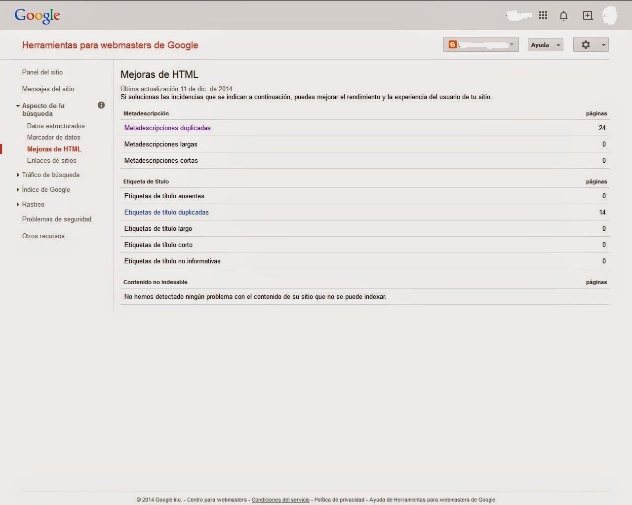 Ayuda a Detectar contenido duplicado