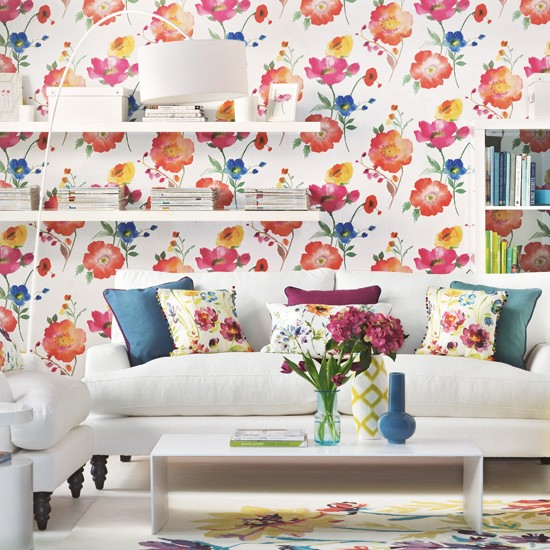 Bright Room: Mix And Chic: Sprucing Up Your Living Room Using Wallpapers