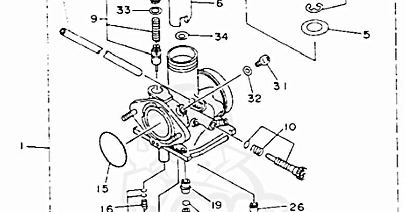 Yamaha Timberwolf 250 Carburetor Diagram
