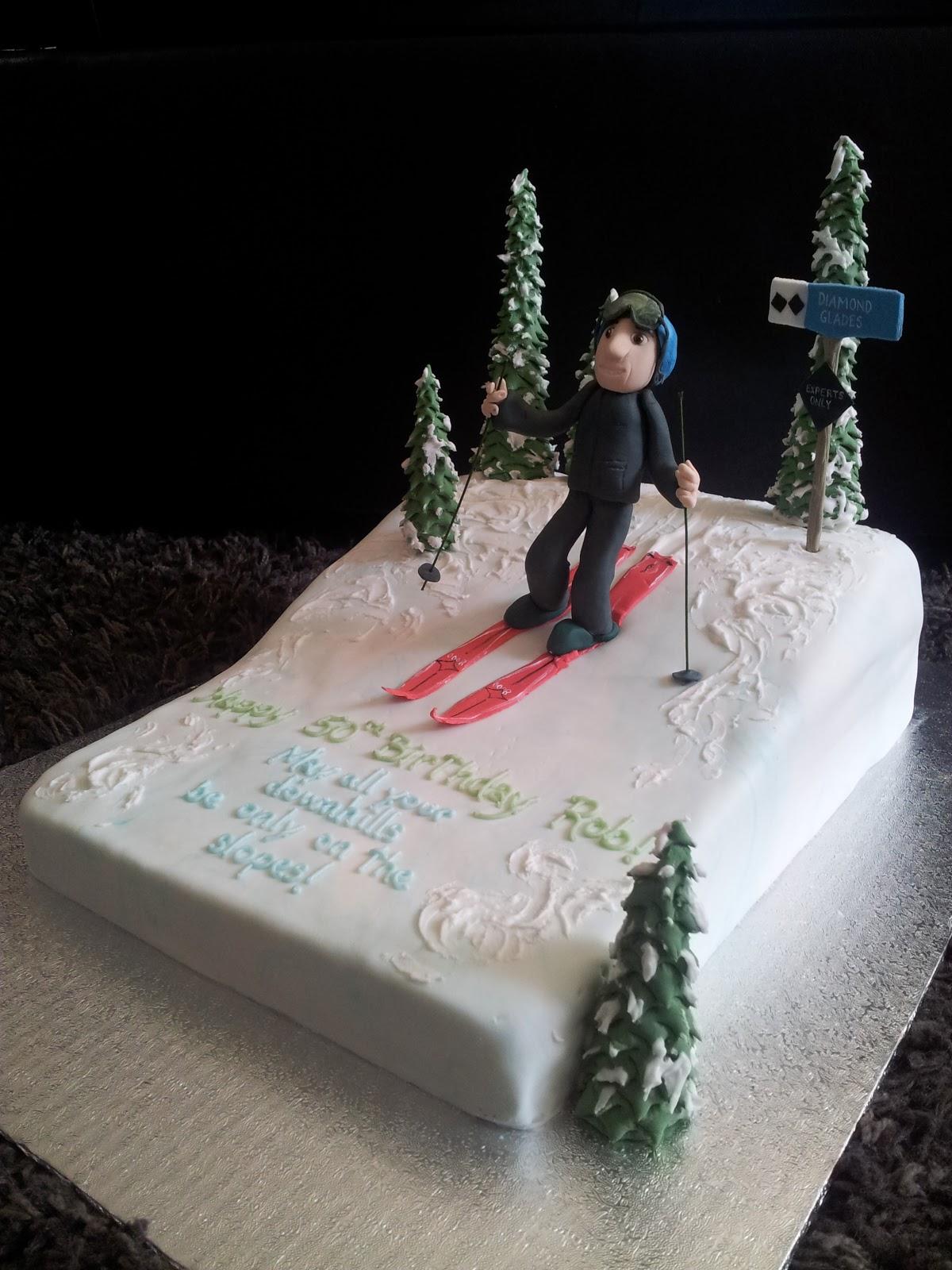Kiddles N Bits Skiing Cake
