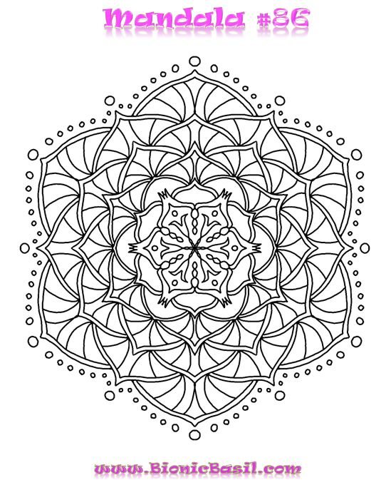 Mandalas on Monday #85 ©BionicBasil®  Colouring With Cats Downloadable Picture  Word Doc