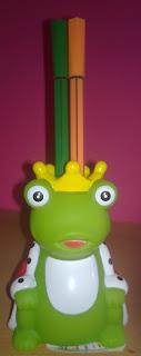 Zahnbürstenhalter Froschkönig mit 2 Stiften.