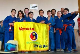 Les jeunes participants à la coupe Aquitaine  vovinam viet vo dao