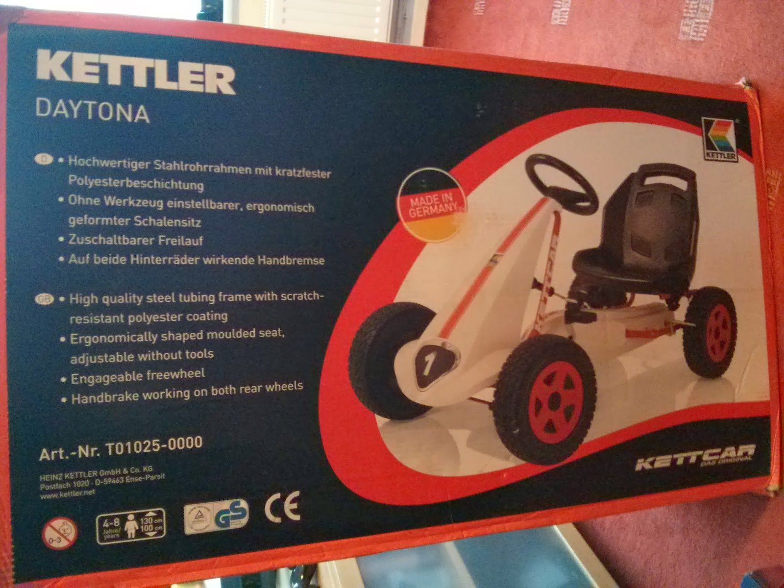 A Mothers Ramblings Kettler Daytona Pedal Go Kart Review