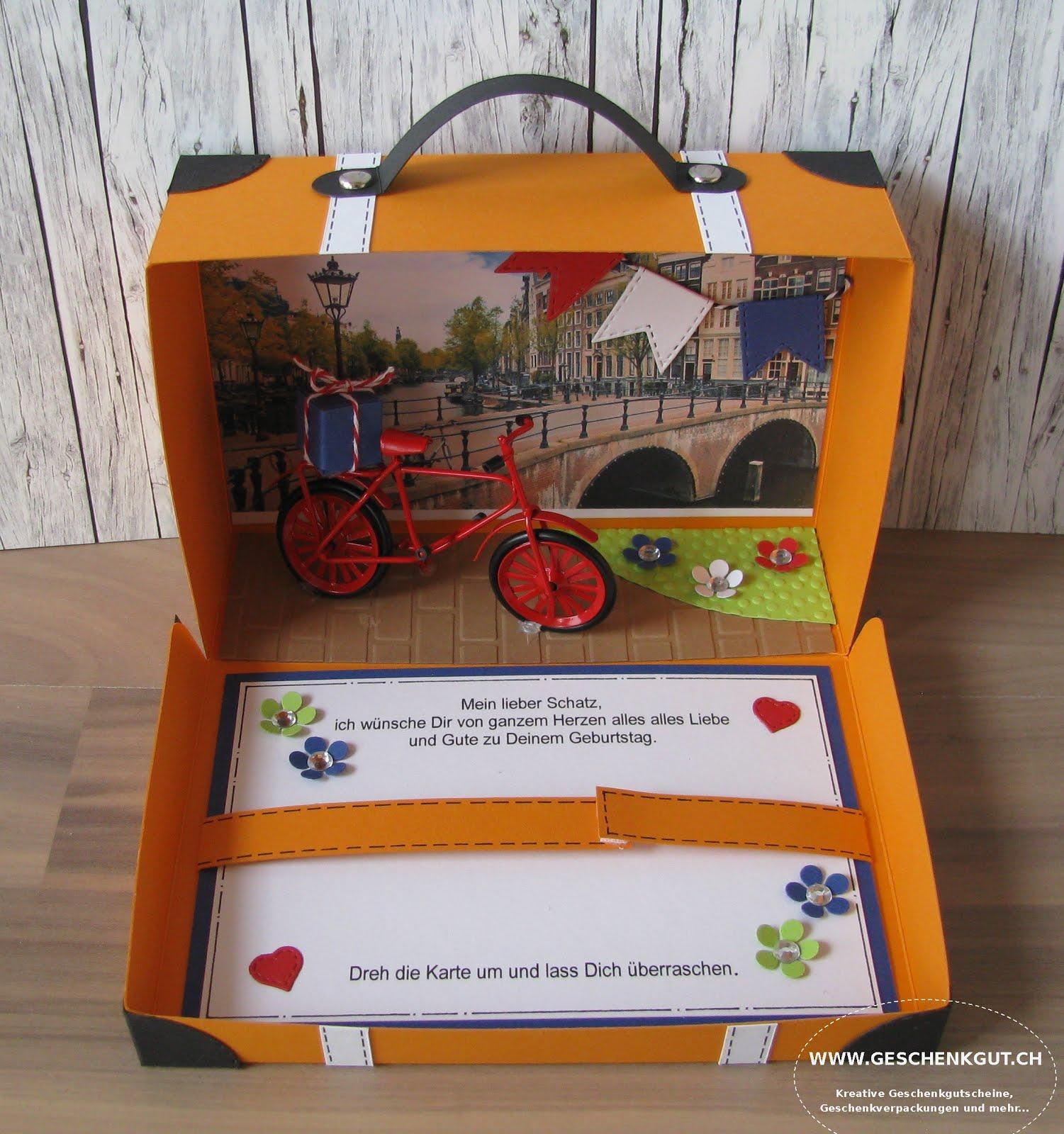 Geschenkidee Gutschein Verpacken