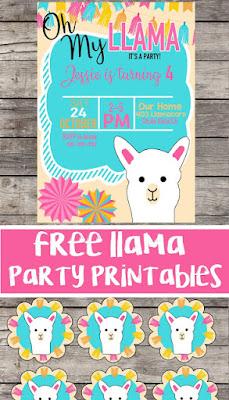 free llama invitations