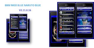 BBM MOD Naruto Blue V2.11.0.16  Apk Terbaru