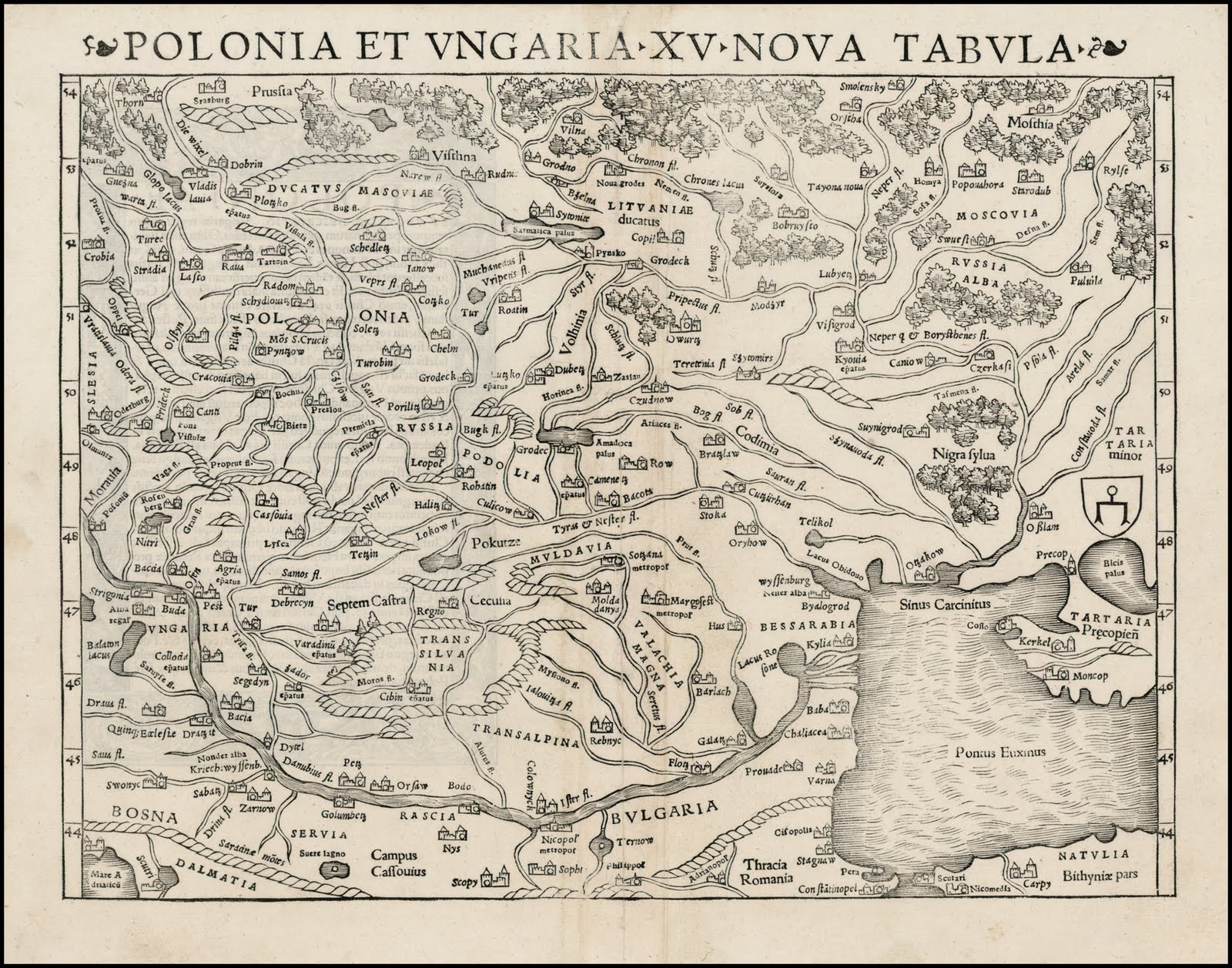 Mapy Uhorska A Slovenska Mapa Uhorska A Poľska 1550