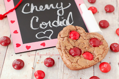 Cherry Cordial Chocolate Cookies by The Sweet Chick