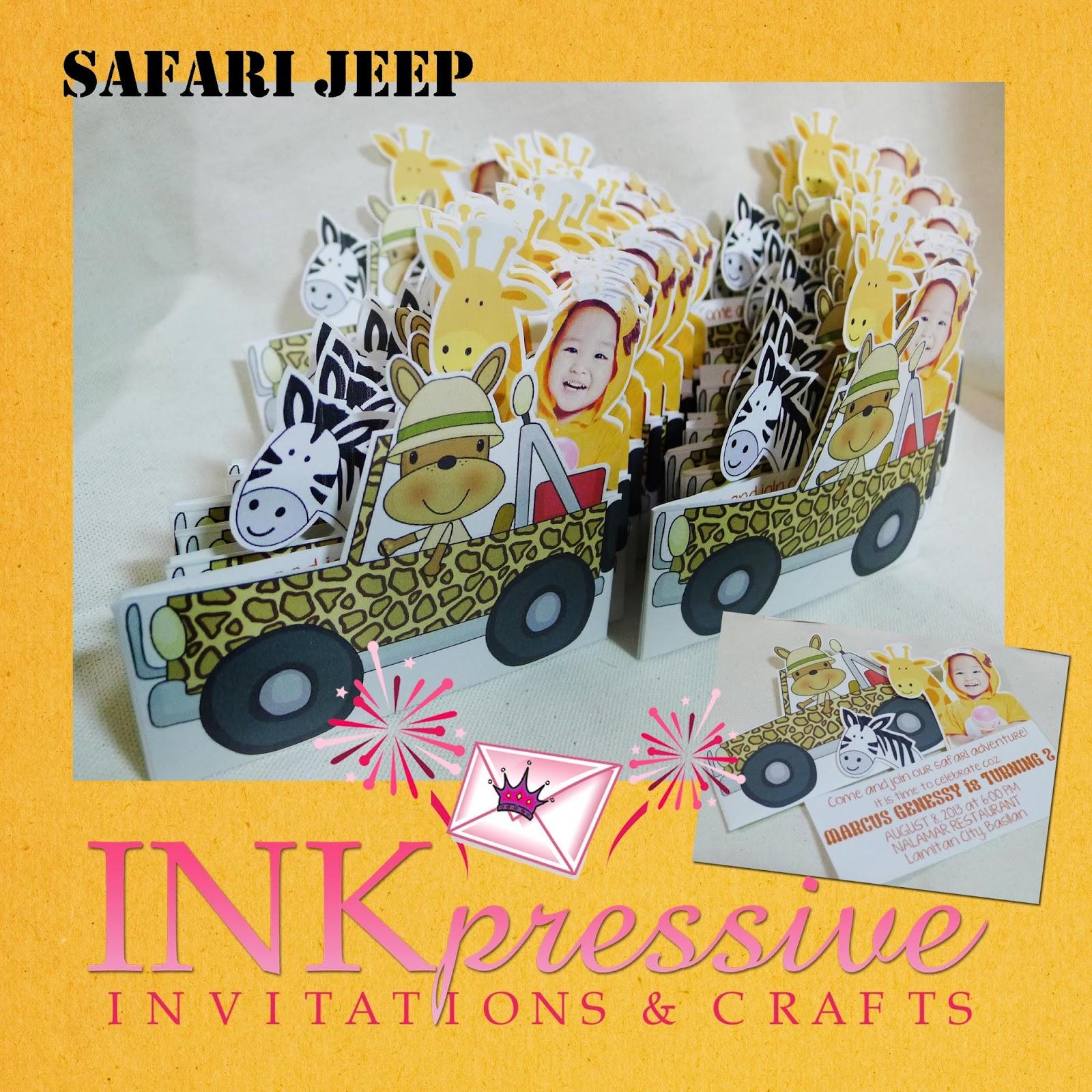Safari Jeep Adventure Invitation