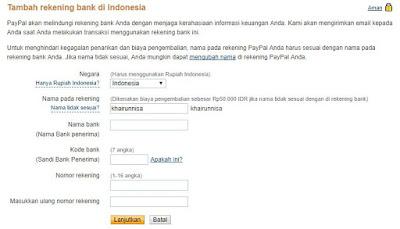 Cara Verifikasi Paypal Dengan Rekening Bank Lokal
