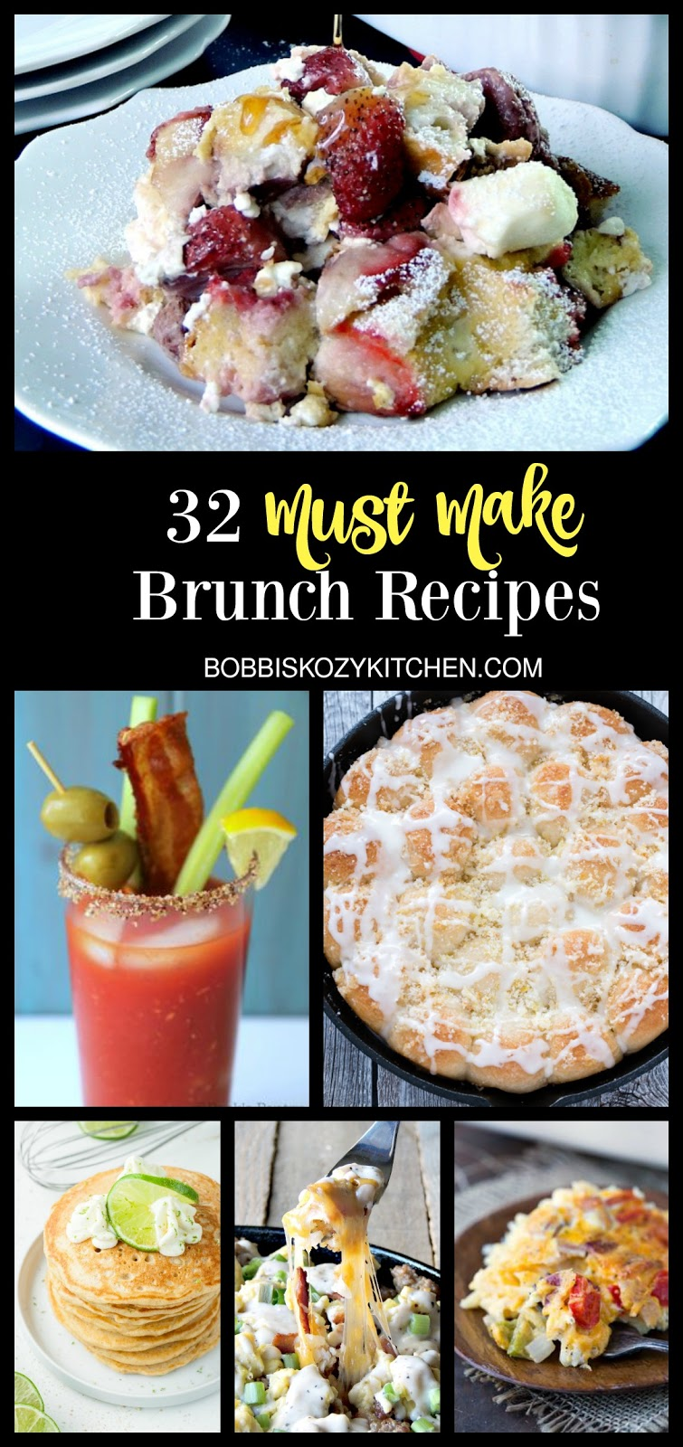 These are 32 delicious, must make recipes for Mother's day, or any day brunch. From www.bobbiskozykitchen.com